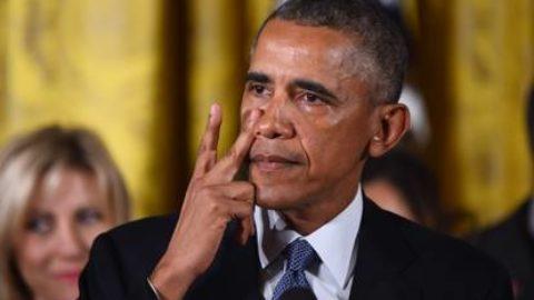 Lacrime vere di un Presidente vero