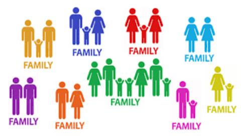 L'amore forma una famiglia.