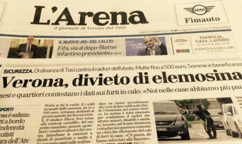 Elemosina solo per i veri poveri italiani!