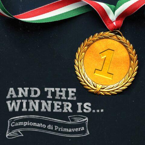 Il vincitore del Campionato di primavera!